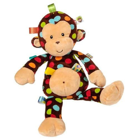 "Taggies Dazzle Dots Big Monkey - 18"" - Mary Meyer Baby - Plush Friends"