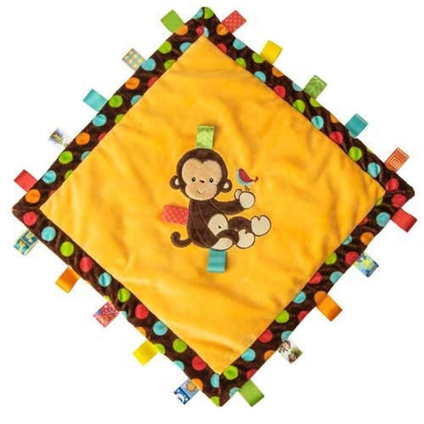 "Taggies Dazzle Dots Monkey Cozy Blanket - 16"" - Mary Meyer Baby - Plush Friends"