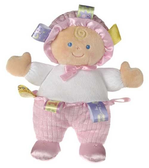Taggies Pink Baby Doll Plush Toy - 8