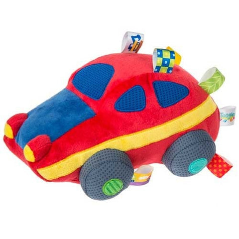"Taggies Wheelies Soft Sports Car - 9"" - Mary Meyer Baby - Plush Friends"
