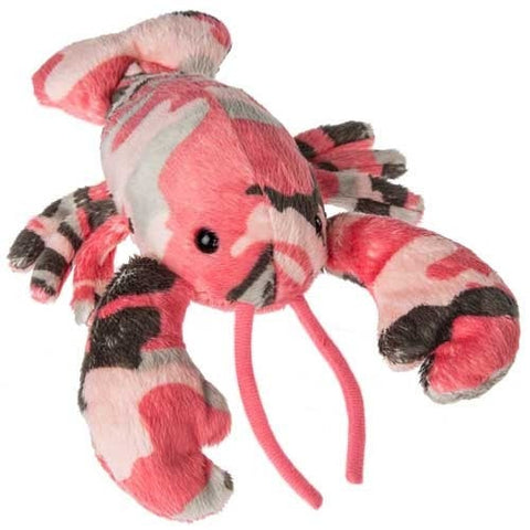 "Team Camo Pink Camouflage Lobster - 7"" - Mary Meyer - Plush Friends"