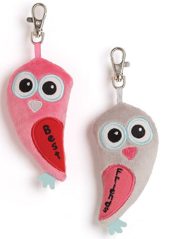 "Tweethearts BFF Backpack Clips Set - 4"" - Gund - Plush Friends"
