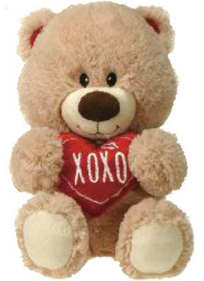 "Valentine's Day XOXO Teddy Bear - 15"" - Fiesta - Plush Friends"