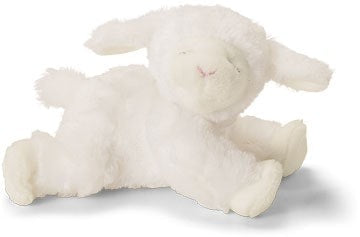 "Winky Plush Lamb Rattle - 4.5"" - Baby Gund - Plush Friends"