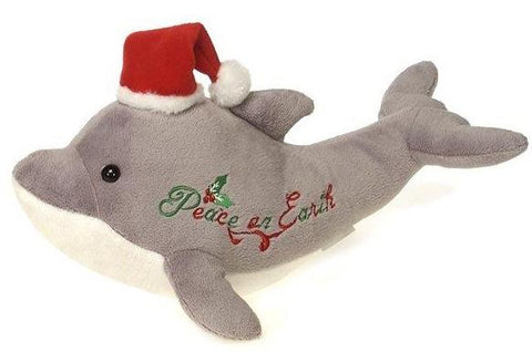 "Christmas Peace on Earth Dolphin Stuffed Animal - 12"" - Fiesta"