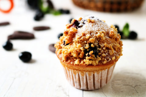 Blueberry and chocolate muffins