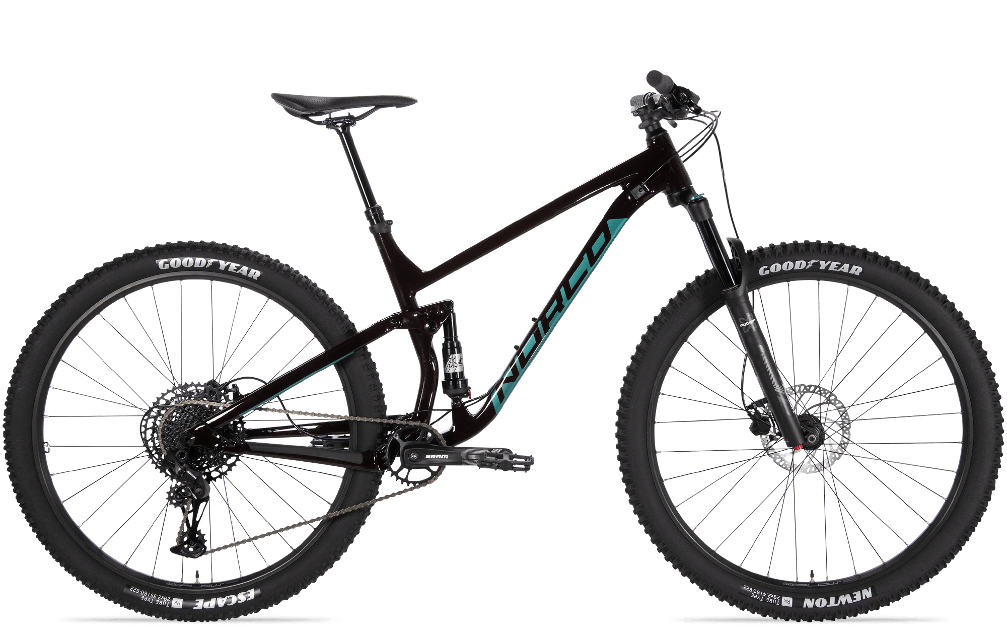 2021 Norco Fluid FS 3 - Red/Green