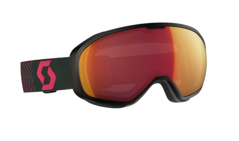 Scott Fix Ski Goggle - Black/Pink Red Chrome Illuminator - O'Reilly Sports