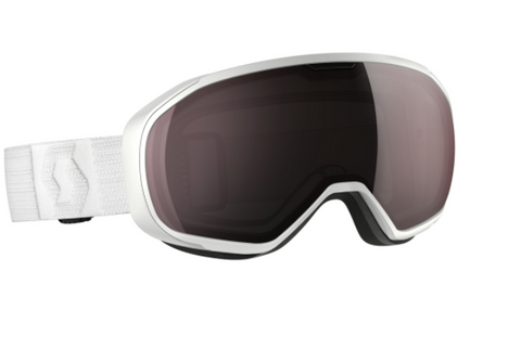 Scott Fix Ski Goggle - White with Silver Chrome lens - O'Reilly Sports