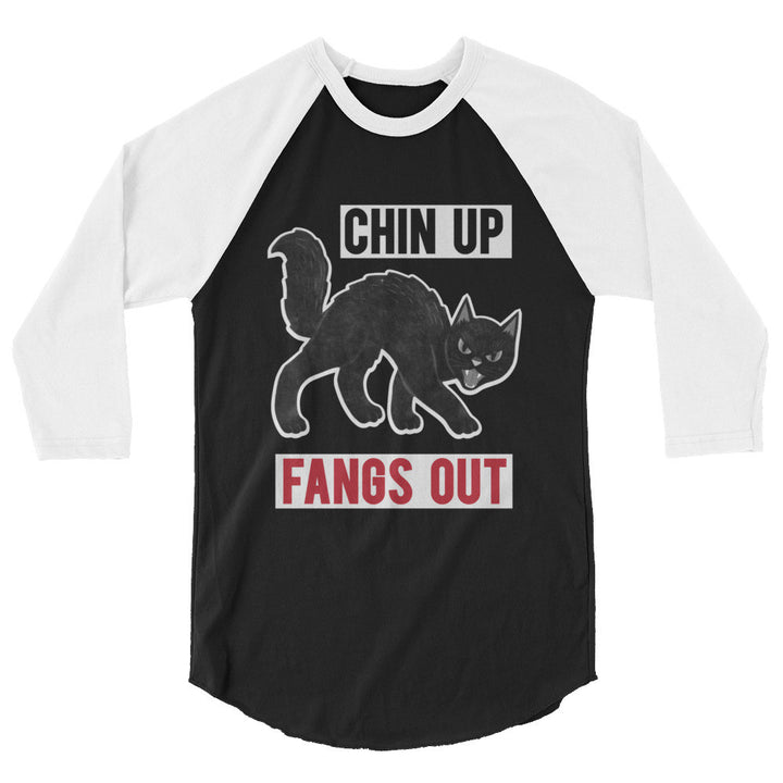 Chin Up Fangs Out 3/4 Raglan Unisex Tee