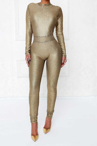 Fairy Dust Metallic Jumpsuit