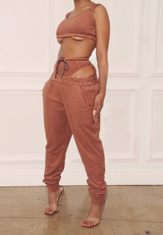 Rich Mocha Terry Cloth Bralet