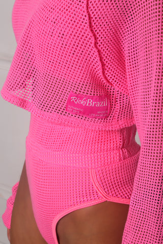 Rich Pink Net Crop