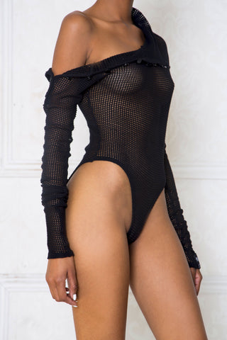 Net Turtleneck Bodysuit