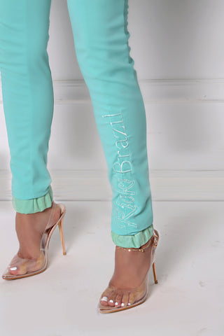 Mint Mermaid High Waisted Pant