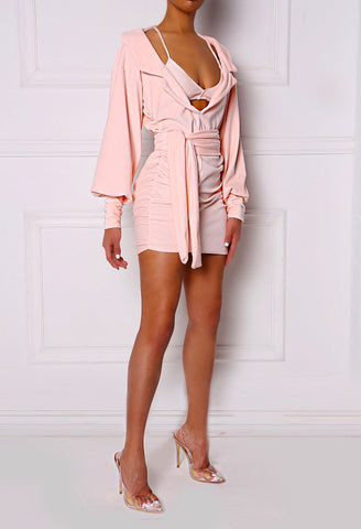 Blush Peek-A-Boo 3 Piece Dress