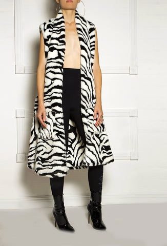 Tigress Faux Fur Vest