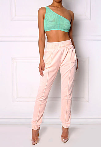 Mint Night Sheer Asym Top