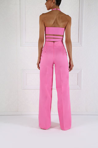 Lily Cutout Bodycon Pink Crop Top