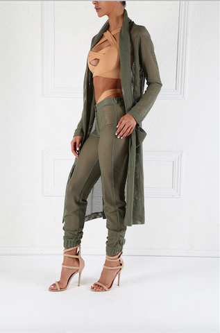 Seaside Khaki Beach Mesh Pants