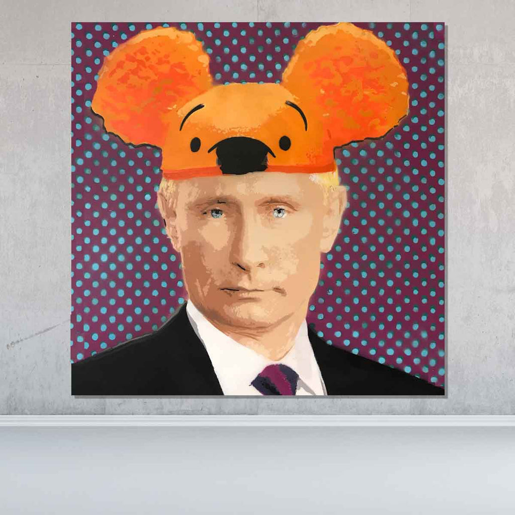 Spencer Couture Political Canvas Wall Art Putin Pop Art