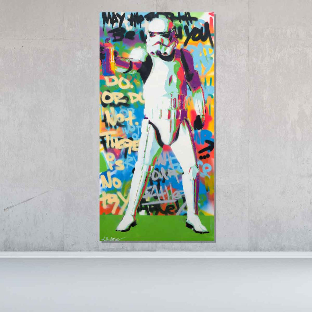 Spray Trooper Original Painting - Originals - Spencer Couture Art