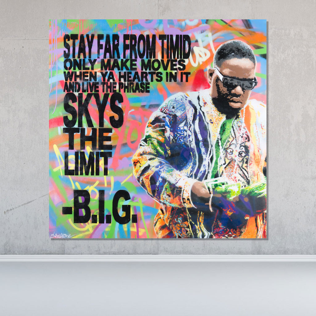 Spencer Couture Original Pop Art Biggie Smalls Notorious BIG