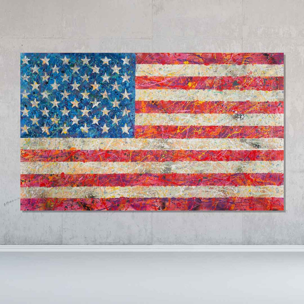 Our Flag Original Painting - Originals - Spencer Couture Art