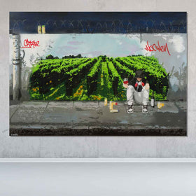 Urban Vineyard Original Painting - Originals - Spencer Couture Art