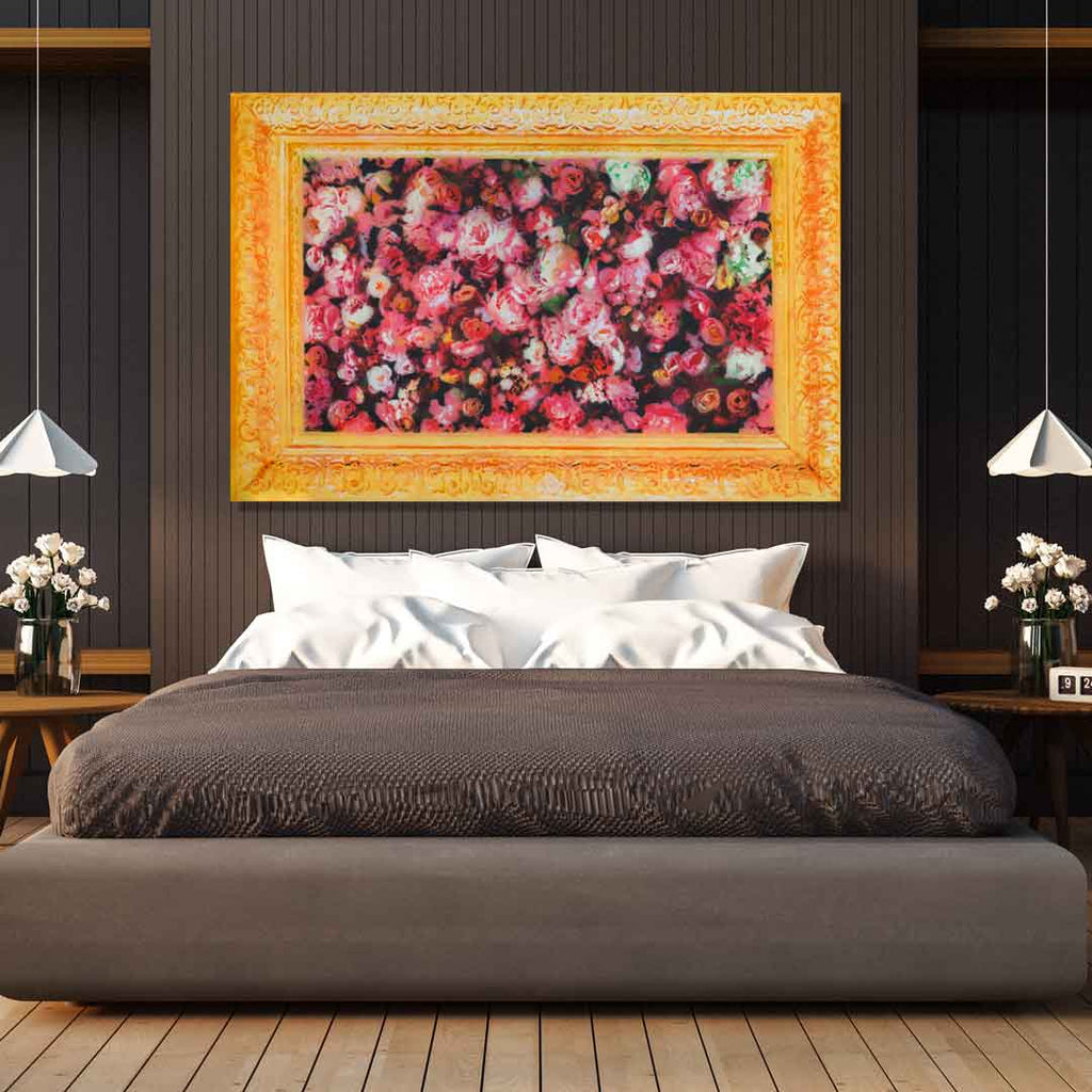 Spencer Couture Limited Edition Smell The Roses Pop Art Canvas Print