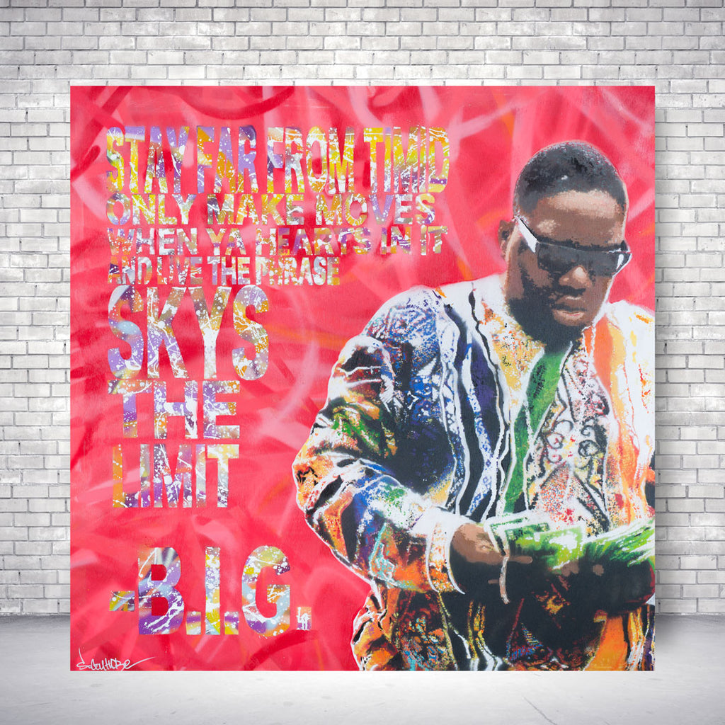 Spencer Couture Art Sky's The Limit Limited Edition Canvas Print Biggie Smalls 36x36