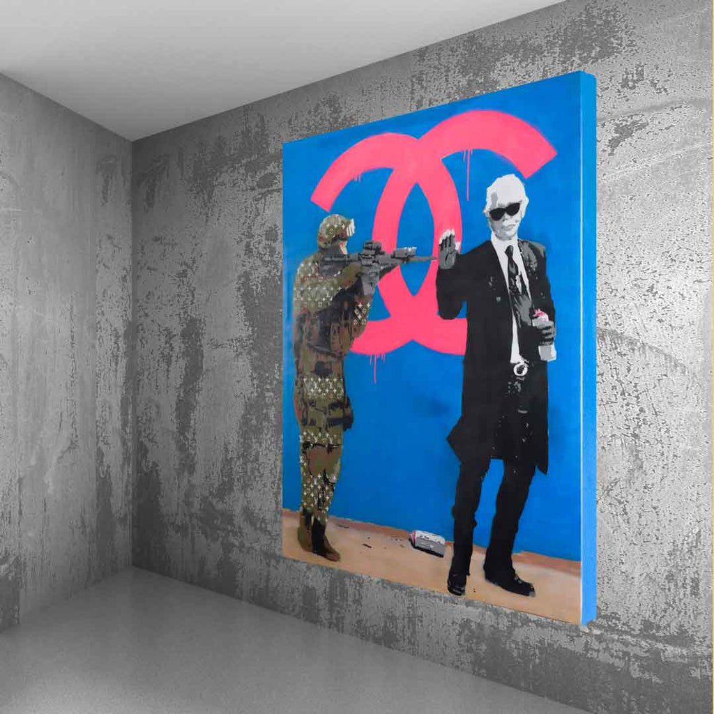 Spencer Couture Limited Edition Chill Louis Vuitton Fashion Pop Art Canvas Print 36x48