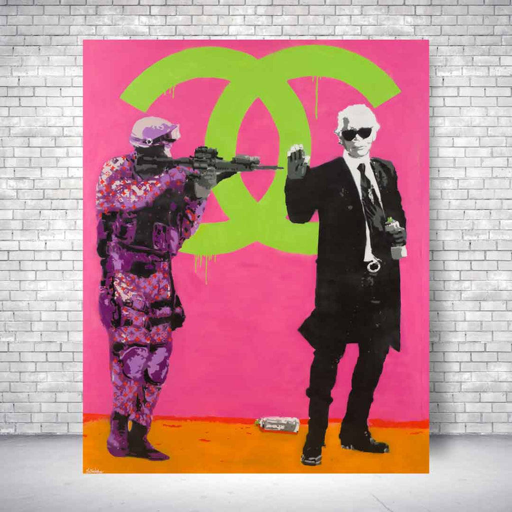 Spencer Couture Limited Edition Chill Louis Vuitton Fashion Pop Art Canvas Print 30x40