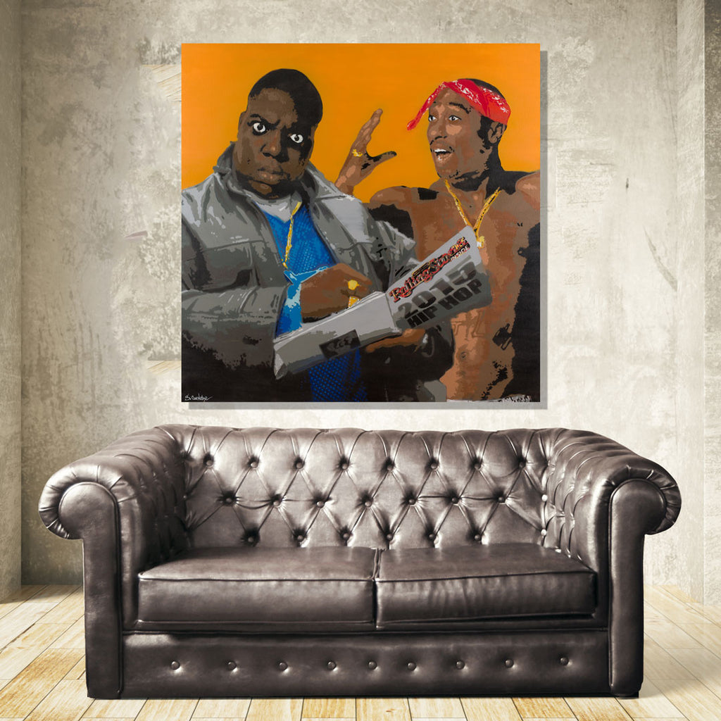Tupac Biggie Wall Art
