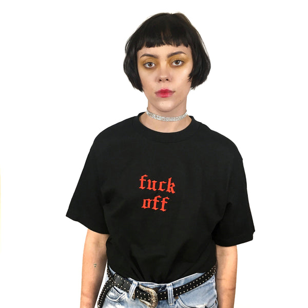 Fuck Off Embroidered 2.0 T-Shirt