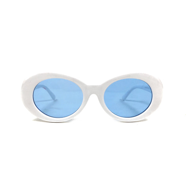Cobain Sunglasses: White/Blue
