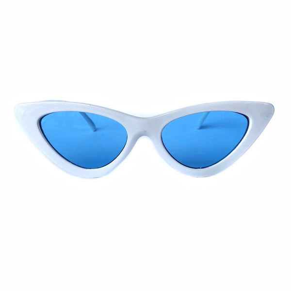 Betty Sunglasses: Blue/White