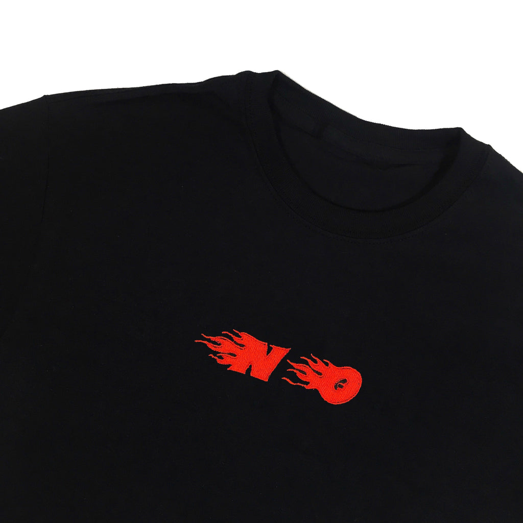 No Flame Embroidered T-Shirt