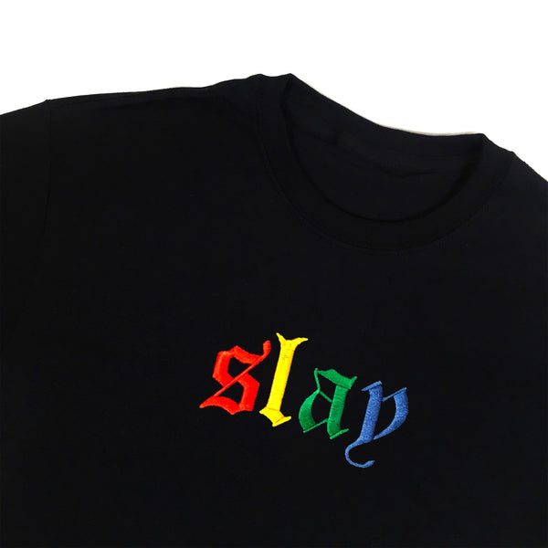 Slay Rainbow Embroidered T-Shirt