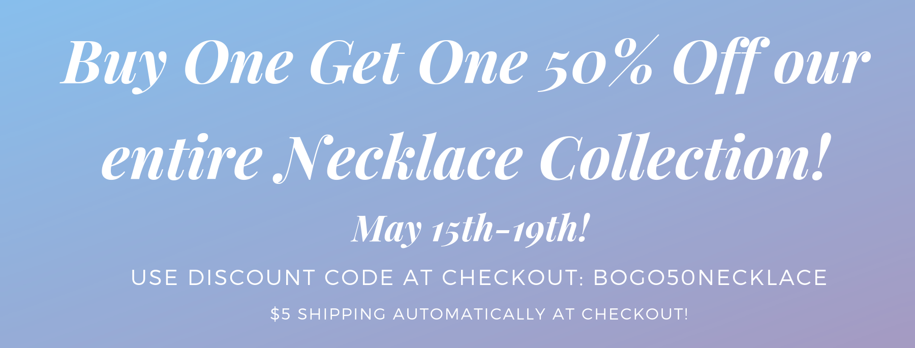 Necklace Sale
