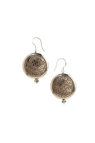 Silver Disc Earrings