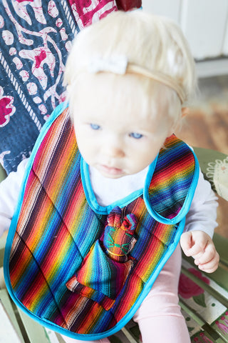 Guatemalan Bib with Doll - Children's Collection - WAR Chest Boutique
