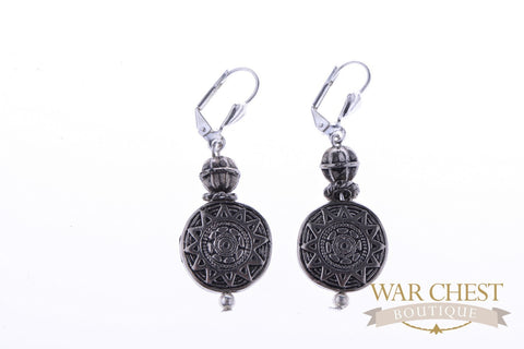 Etched Silver Earrings