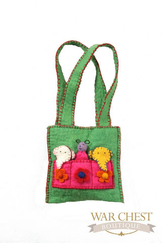 Finger Puppet Purse: Colors Vary