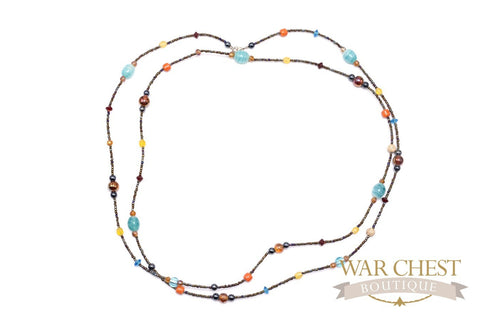 Iridescent Glass Bead Necklace