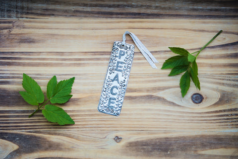 Peace Metal Bookmark