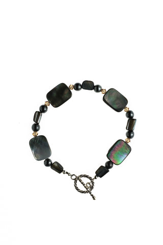 Mother-of-Pearl Shell & Hematite Bracelet