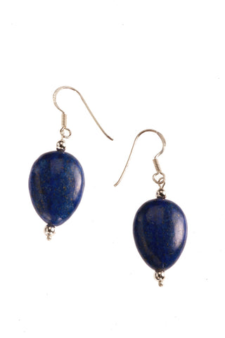 Lapis & Silver Earrings