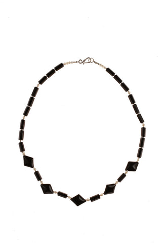 Black Onyx & Pearl Necklace