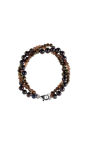 Black & Gold Pearl Bracelet